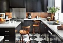 Kitchens that Rule / We all spend a lot of time in here. Keep it warm with wood countertops and elements.