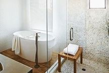 Life in the Bathtub / Creating and Oasis with Bathtubs, Tile, Hardware, Sinks, Showers and unique storage solutions
