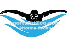Swimming and Diving / Swimming and diving illustrations, clipart, designs and products.