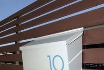 {MHN mailbox numbers} / modern mailbox numbers, vinyl numbers, numbers to moderize your mailbox, numbers to make a statement, vinyl numbers in a variety of modern typefaces, mailbox numbers in modern colors, easy to install vinyl numbers and the best customer service around.  made in the USA.    www.modernhousenumbers.com