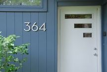 {customer photos} / modern house numbers, modern address plaques, modern address numbers, modern curb stencils, modern mailbox numbers. images from the best customers, from all over the world. made in the USA. www.modernhousenumbers.com