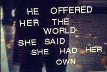 Say. / Words I love.