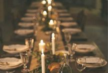A beautiful feast / Beautiful table arrangements