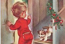 """Vintage Weihnachten / Weihnachten auf alt gemacht. Ich liebe """"das alte Weihnachten""""."""