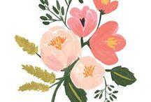 Floral & Blumen / Florale Muster, Blumen, Watercolor.