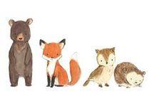 Niedliche Illustrationen / Niedliche Illustrationen von Tieren und Pflanzen. So süß.