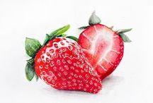 Erdbeeren / Erdbeeren schmecken lecker und sehen toll aus. Darum hier wundervolle Illustrationen zum Thema Erdbeeren.