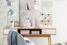 Schreibtisch / Organisation und Deko rund um den Schreibtisch