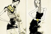 Illustration / Sketch and collage that makes me wanna sketch and collage.