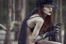 Halfling / Half woman half animal. Feral, creepy and dark. Hybrid.