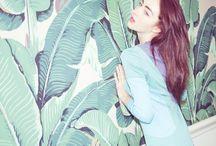 Secret Garden / Botanical, tropical and lush fashion styling.