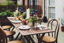 Entertaining / Entertaining ideas for home, indoors or outside