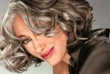 Hair - Gray / Natural grey hair and fake / by Chadda Rhu