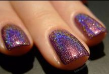 Boudoir / A vampy burgundy with a rainbow holographic finish