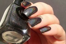 Alter Ego / A cosmic black with a rainbow holographic finish