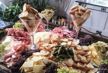 Charcuterie, Antipasti, Cheese & Fruit Platter ideas / Ideas for beautiful party spreads on platters