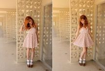 """cutesy clothes / """"i rock a lot of polka dots."""" - zooey deschanel / by Crys Coles"""