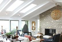 LIVING ROOMS / Daylight and fresh air from skylights can help any living room feel dramatic.