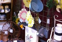 Becky Baxter / Vintage kitchen ware. Glasses, pots, towels, pitchers and more!