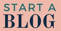 HOW TO START A BLOG / On this board, you'll learn everything about how to start a blog, including how to name your blog, blogging tips and tricks, blogging ideas, about me page, contact page, and blogging mistakes to avoid.
