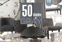 Our 50 Shades of Gray / You're not bound to one shade of grey. Whip any room into shape with one of these pieces. Soon you'll have a spankin' new room full of favorites. / by Bellacor.com