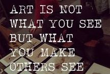 "Art :: Quotes / ""Art is not what you see, but what you make others see."" - Edgar Degas / by Artchipel"