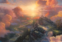 Painter of Light-Thomas Kinkade / I have loved Thomas Kinkade since I was a teen! He truly speaks to me as a Christian in so many of his works. I miss his work very much! But he is painting for the best house of all the Creators:)