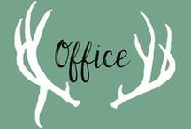 Office / The home office is such a fun place to decorate! Everything must have function and charm!