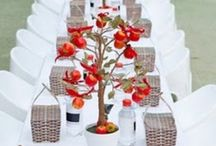 NLK Tablescapes: trees - leaves - wood / by Peggy Tidwell