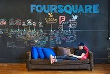Foursquare's NYC Headquarters / Get an insider look at Foursquare's New York headquarters located in the heart of SoHo, NYC and learn more about it from co-founder and CEO Dennis Crowley, courtesy of Adweek. http://www.adweek.com/news-gallery/advertising-branding/foursquares-soho-digs-boast-comfort-collaboration-and-style-165324 / by Foursquare