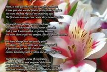 "Gifts For Moms / These poem gifts celebrate Moms of all ages. New moms will love a poetry gift of ""A Mother's Prayer"". And ""For My Mother"" captures the essence of a mother's role in the life of her child. These lovely poetry prints are gifts Mom will treasure. Just click the image for a better look. / by PoetryPrints.com"