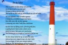 "Gifts for Dads / These poem gifts celebrate Dads of all ages. New dads will cherish a poetry gift of ""A Father's Prayer"". And ""For My Father"" captures the essence of a father's role in the life of his child. These wonderful poetry prints are gifts Dad will treasure. / by PoetryPrints.com"