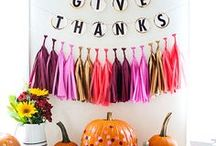 Fall Entertaining / Fall decor, thanksgiving table and homey harvest ideas!