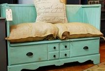 furniture remake / upcycled, recycled, painted, altered, and re-used furniture and household furnishings to diy / by Jeannine Parisi