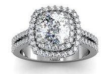 Halo Engagement Rings / Inspiration for the perfect halo ring for your perfect someone.