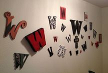 things made for the new house / Wall of W's is in the entry way and throughout the house.  / by Cynthia Willhite