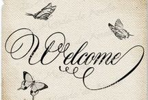 Welcome / Messages * Notes * Words * Information * More / by Lisa ★ Berry
