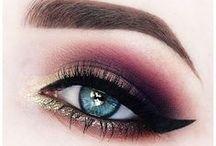 Beauty: Augen Make-Ups / Wunderschöne Augen Make-Ups. //   AMU   Glitzer   Herzen   Catliner   Eyeliner   Lidschatten   Mascara   Wimperntusche   Lashes
