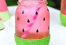 DIY: Glas / Tolle DIY Ideen zum Selbermachen mit Glas. //   Marmeladengläser   Mason Jars   Flaschen   Vintage   Shabby Chic   Malen