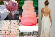 """Wedding - Ombre Themes / Ombre is one of THE hottest wedding trends for 2012, and so easy to incorporate into many elements of the day. """"Ombre"""" refers to a graduation of color, gradually shifting from light to dark, or between different colors entirely. One of the reason's why it's so popular, is because there's so much room for creativity and experimentation."""