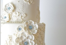 """Wedding - Cakes / Wedding Cake...it's the first thing the newlyweds """"do"""" together as a married couple, to signify the start of their union as husband and wife, and represents faithfulness and sharing for years to come."""