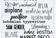 Fonts / by Katy Lighten
