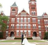 Auburn Weddings / Samford Hall lawn can now hold weddings! These are some of the beautiful wedding pictures that have taken place on Auburn's gorgeous campus, some Auburn themed inspiration, and general help and ideas for planning your own big day