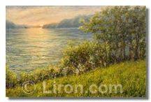 Landscape paintings / Landscape oil paintings by Liron Sissman. http://Liron.com Easy online ordering: http://liron.com/products-page/shop-exclusive-prints/