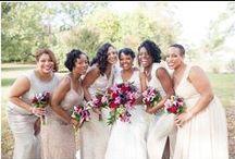 Bridesmaids Dresses | AMP / Beautiful bridesmaid dress inspiration! All photos taken by Angie McPherson Photography | www.McPhersonPhotos.com