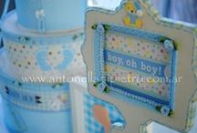 Baby Shower . It´s a Boy / Detalles de festejos de Baby Shower. Fiestas de pañales http://antonelladipietro.com.ar/blog/