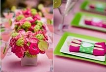 Pink & Green Parties / Pink and green party inspiration / by The Paper Cottage