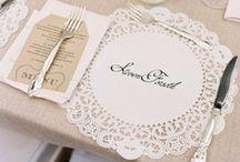 [wedding] escort & place cards / by Carmen @ SillyLab