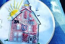 Embroidery   Handmade U Barn and more / I love stitching and try to incorporate some in many of the projects I teach at Handmade U.  Here are some of the projects and other fun stitching ideas to keep your hands busy!  www.handmadeu.com