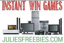 Instant Win Games / Instant Win Games that you can enter to win cool prizes! / by Julie's Freebies